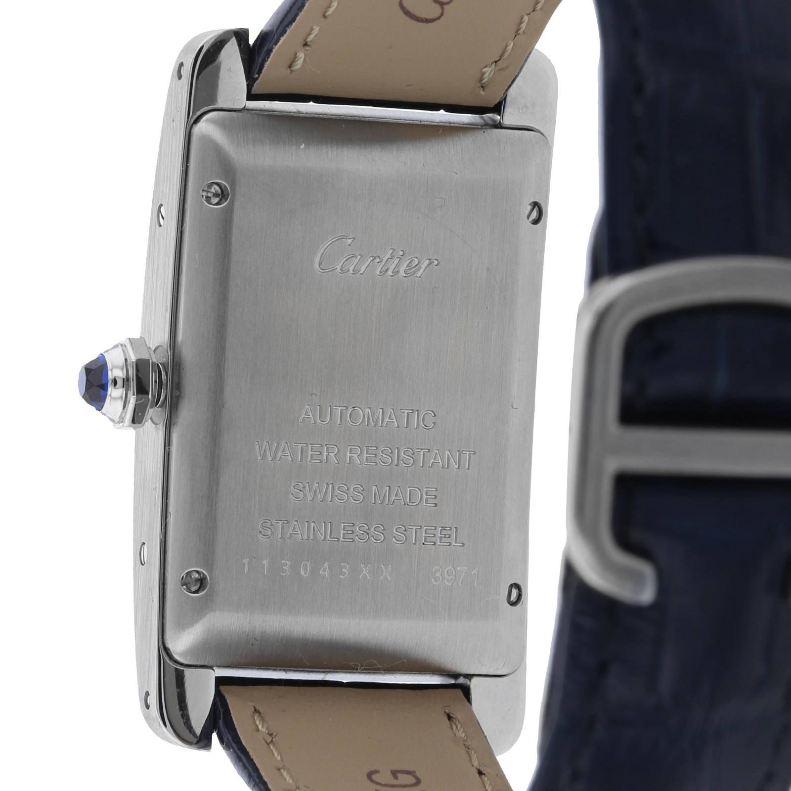 Cartier Tank Américaine watch Medium model, steel, leather