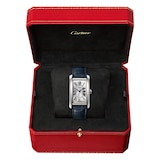 Cartier Tank Américaine Watch Large Model, Automatic Movement, Steel, Leather
