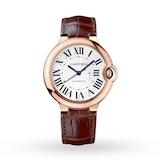 Cartier Ballon Bleu De Cartier Watch 36mm, Automatic Movement, Pink Gold, Leather