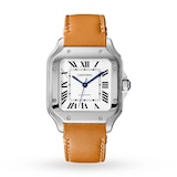 Cartier Santos De Cartier Watch Medium Model, Automatic Movement, Steel, Interchangeable Metal And Leather Bracelets