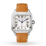 Cartier Santos De Cartier Watch Large Model, Automatic Movement, Steel, Interchangeable Metal And Leather Bracelets