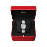Cartier Panthère De Cartier Watch Small Model, Quartz Movement, Steel, Diamonds