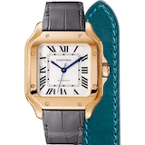 Cartier Santos De Cartier Watch Medium Model, Automatic Movement, Rose Gold, 2 Interchangeable Leather Bracelets