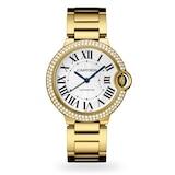 Cartier Ballon Bleu De Cartier Watch 36mm, Automatic Movement, Yellow Gold, Diamonds