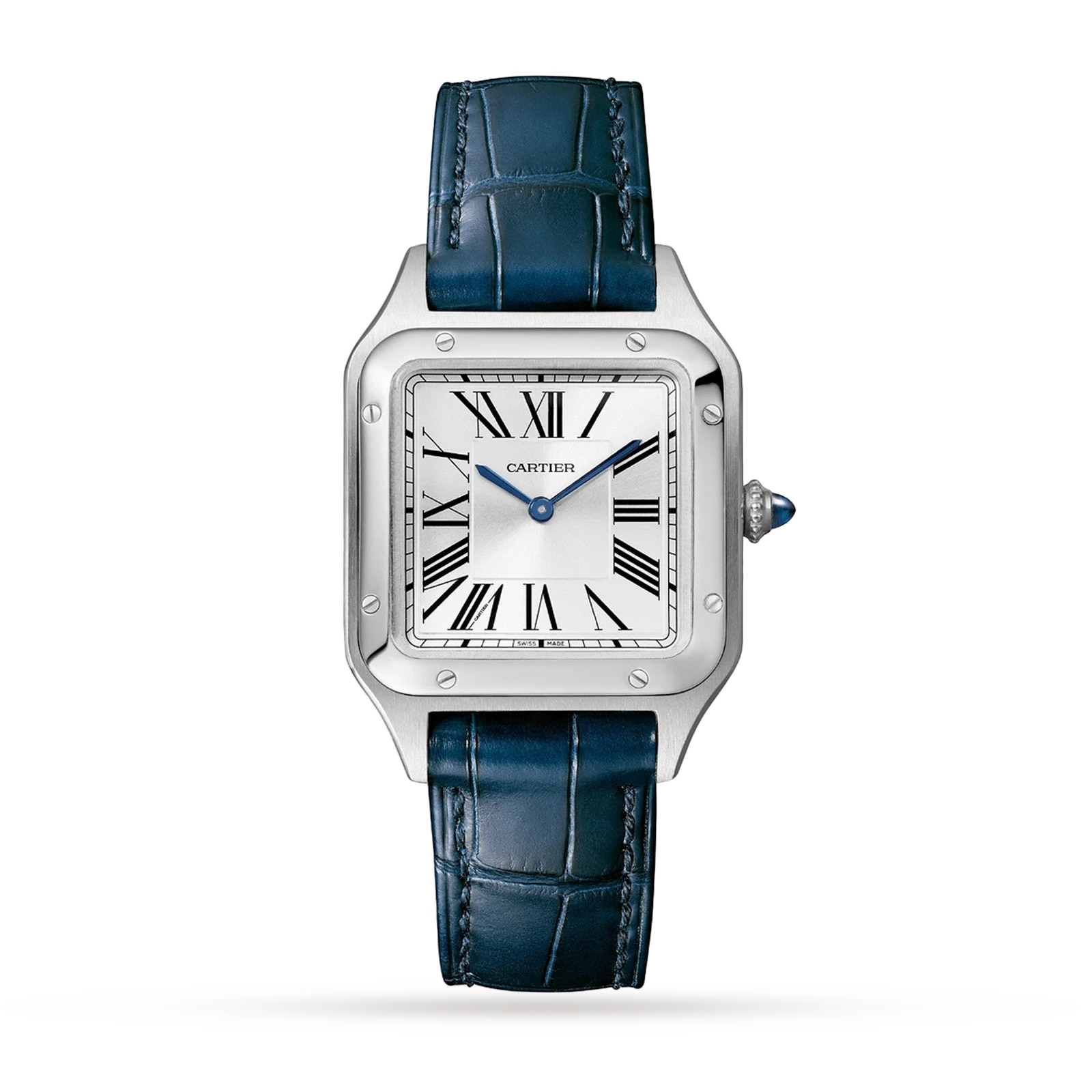 Cartier Santos- Dumont Small model, steel, leather