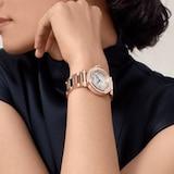 Cartier Pasha De Cartier Watch 35mm, Automatic Movement, Rose Gold, Diamonds, Interchangeable Metal And Leather Straps