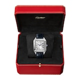 Cartier Santos-dumont Watch Extra-Large Model, Hand-Wound Mechanical Movement, Steel, Leather
