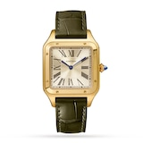 Cartier Santos-Dumont Watch Large Model, Hand-Wound Mechanical Movement, Yellow Gold, Leather