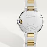 Cartier Ballon Bleu De Cartier Watch, 33mm, Mechanical Movement With Automatic Winding, Yellow Gold, Steel