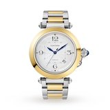 Cartier Pasha de Cartier 41 mm, automatic movement, 18K yellow gold and steel, interchangeable metal and leather straps