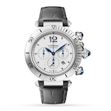 Cartier Pasha de Cartier 41 mm, chronograph, automatic movement, steel, interchangeable metal and leather straps