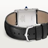 Cartier Tank Must de Cartier, Large model, quartz movement, steel, leather
