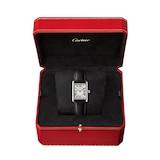 Cartier Tank Must de Cartier, Small model, quartz movement, steel, leather