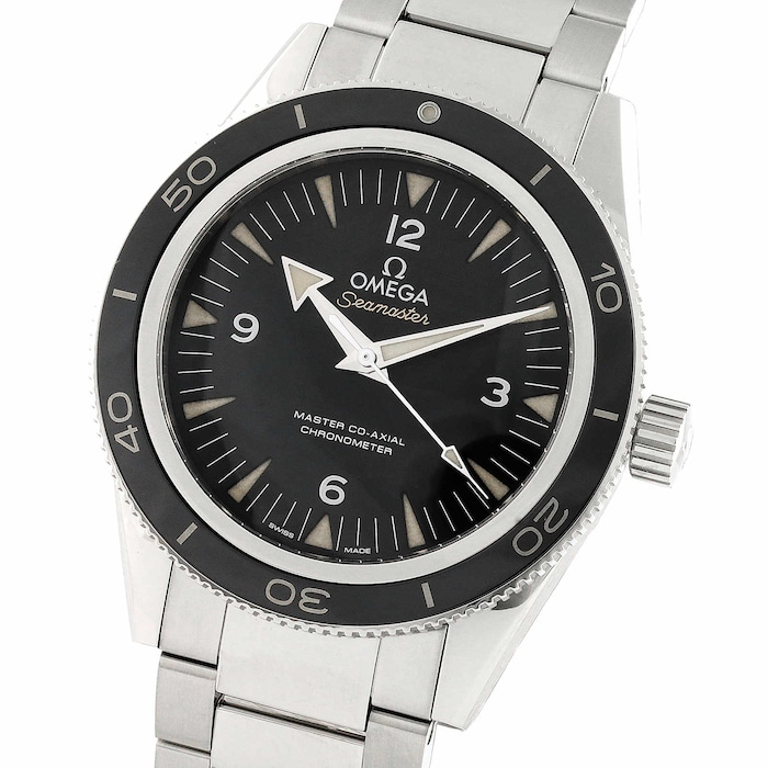 Omega Seamaster 300 Mens 41mm Black Dial Co-Axial Automatic Watch
