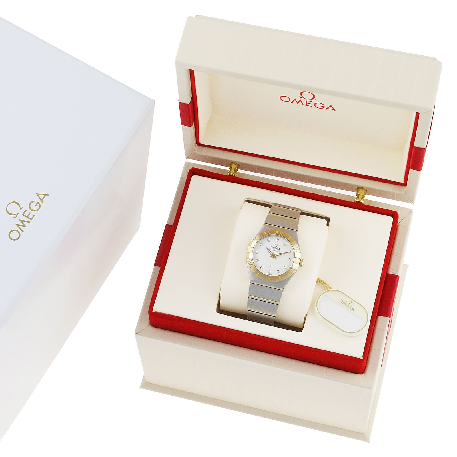Omega Constellation Ladies 27mm Co-Axial Bicolour Automatic Ladies Watch