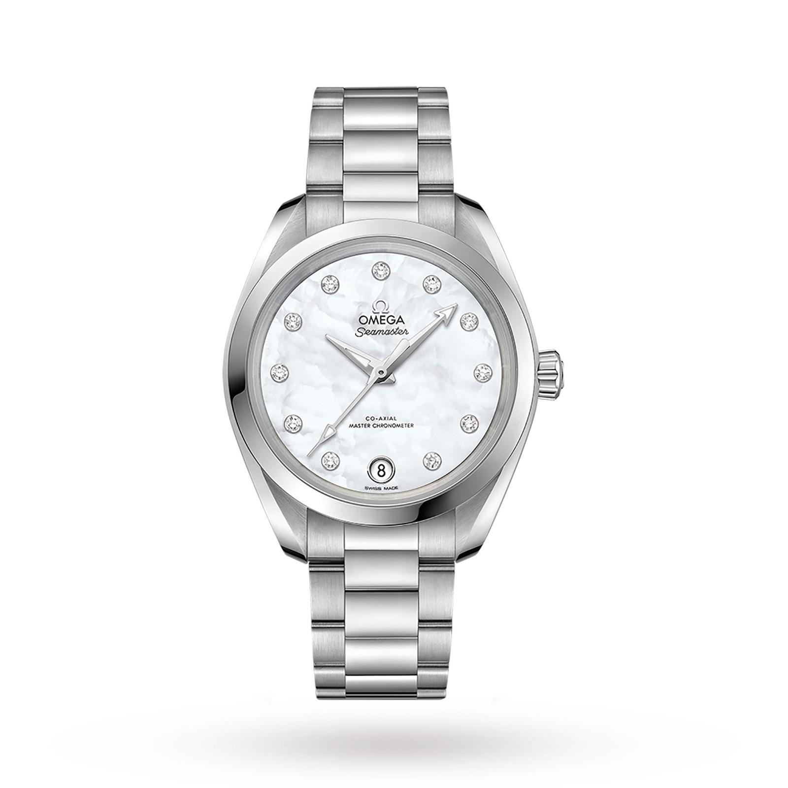 Omega Seamaster Aqua Terra 150M Ladies 34mm Automatic Co-Axial Diamond Dot Watch