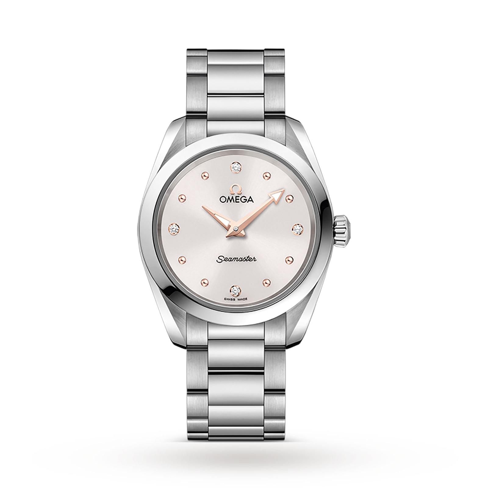 Omega Seamaster Aqua Terra 150M Ladies 28mm Quartz Diamond Dot Watch