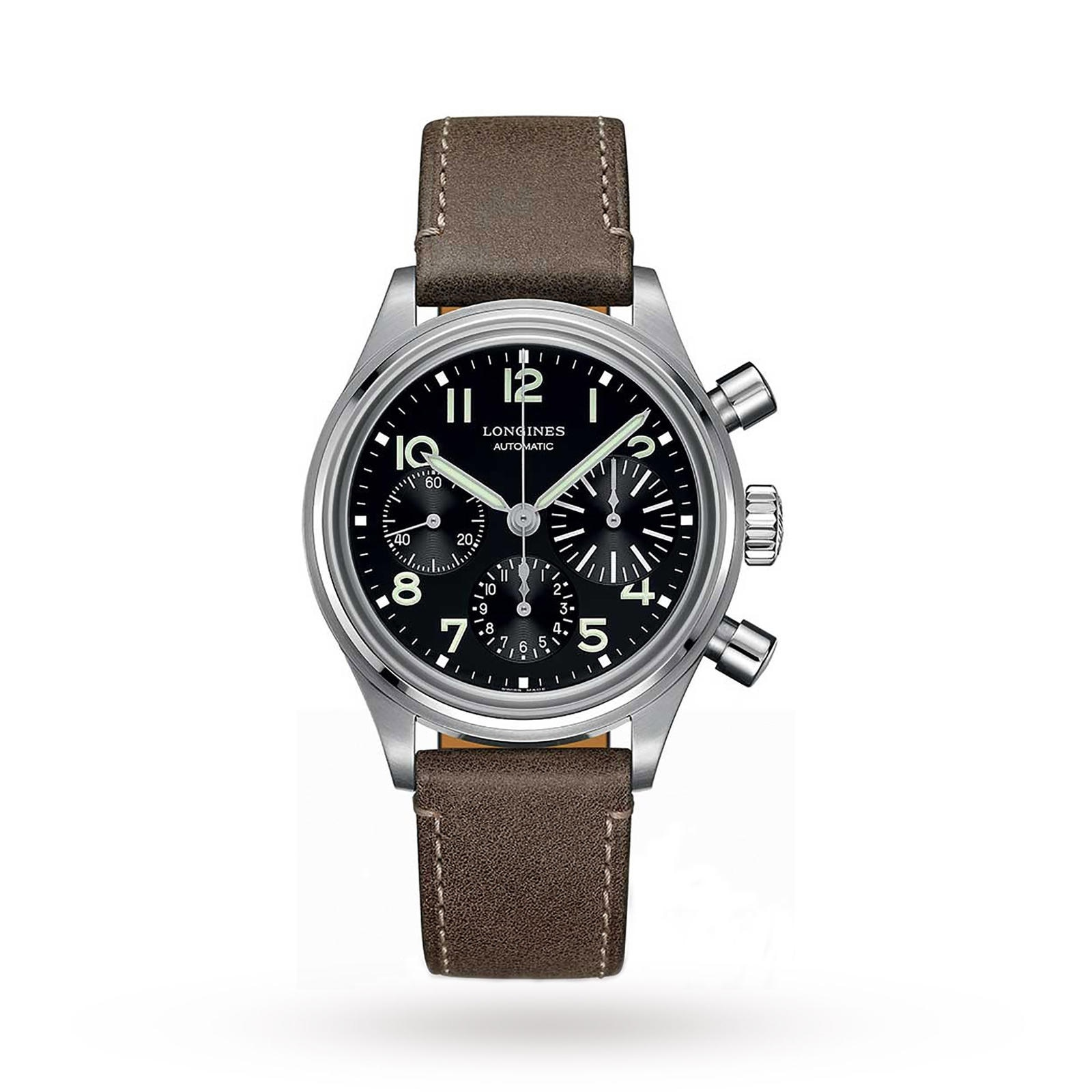 Longines Heritage Avigation Bigeye 41mm Automatic Mens Watch
