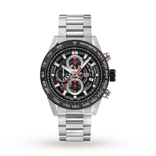 Carrera Heuer 01 45mm Black Automatic Mens Watch