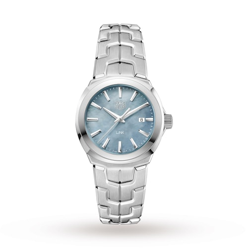 Link Quartz Date Mother Of Pearl Ladies Watch