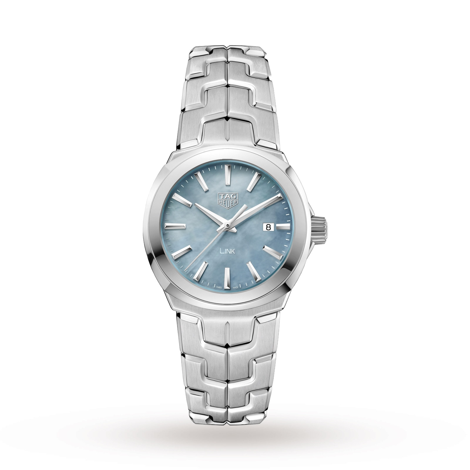 TAG Heuer Link Quartz Date Mother Of Pearl Ladies Watch