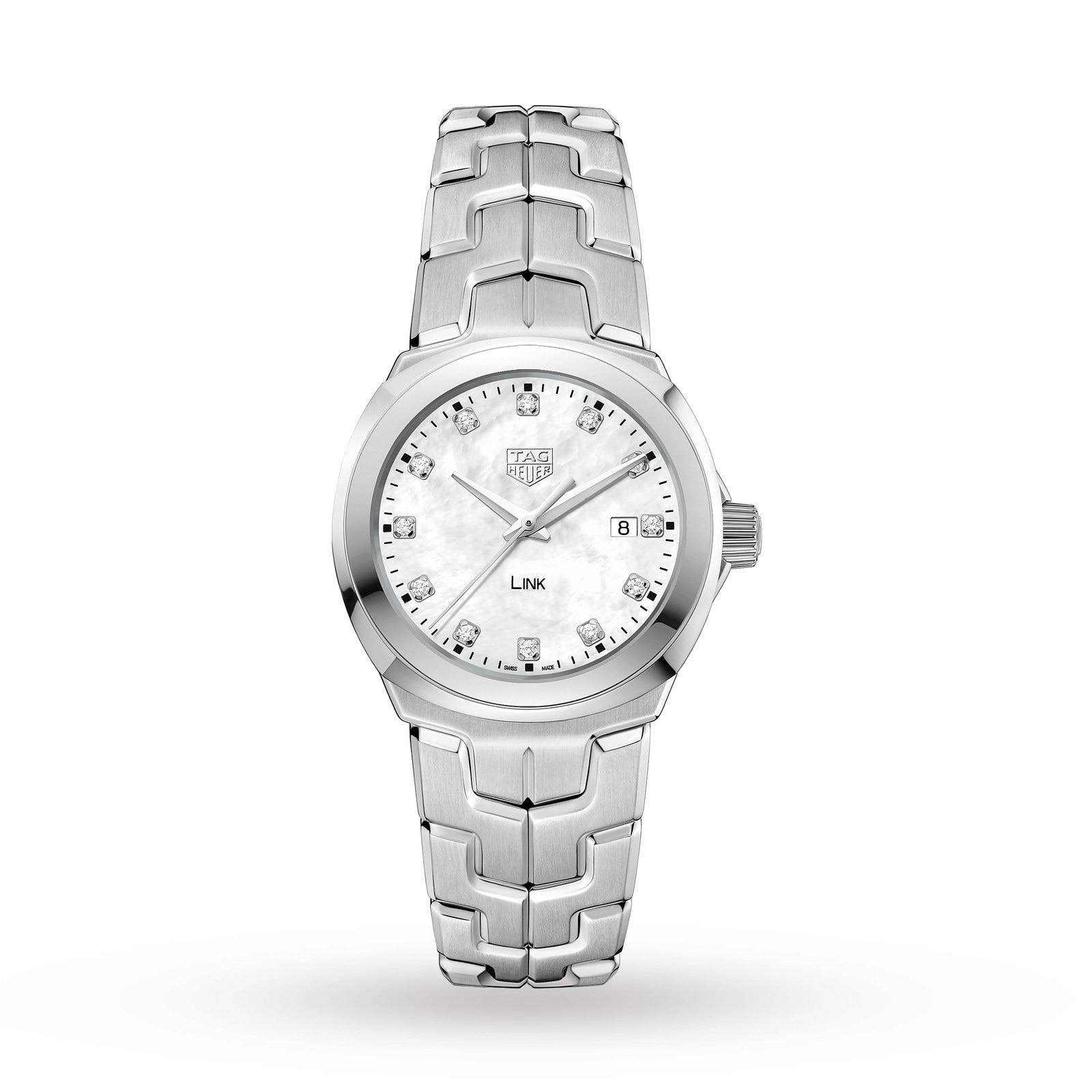 TAG Heuer Link Quartz Date Mother Of Pearl Ladies Watch