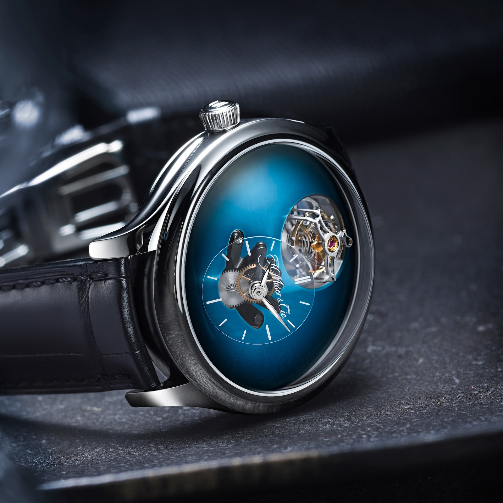 H. Moser & Cie Endeavour Cylindrical Tourbillon Aqua Blue