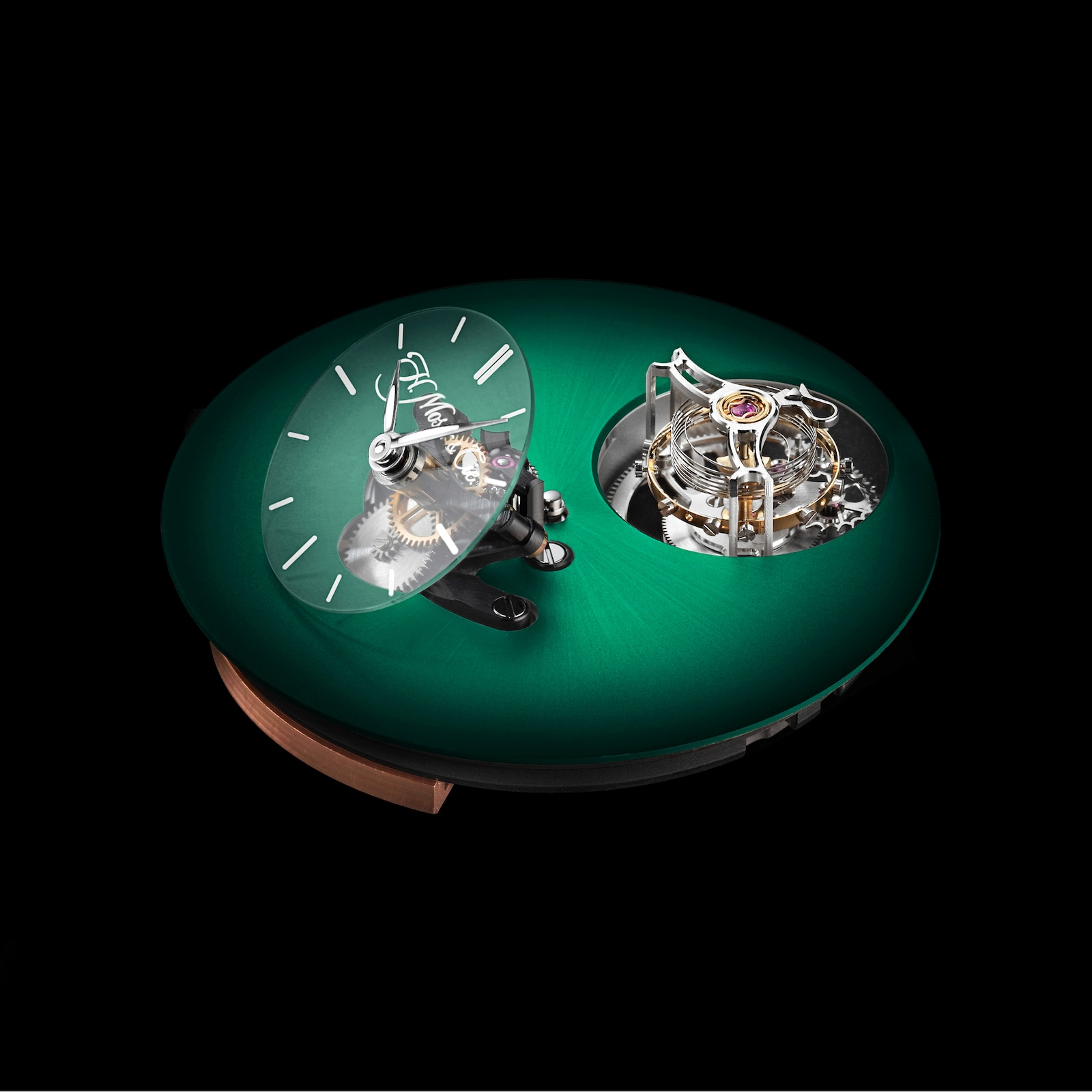 H. Moser & Cie Endeavour Cylindrical Tourbillon Cosmic Green