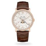 Blancpain Villeret Moonphase Complete Calendar GMT 40mm Mens Watch