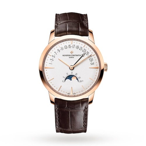 Patrimony Moonphase and Retrograde Date Mens Watch