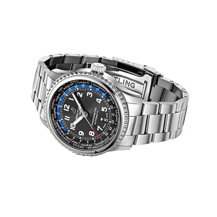 Breitling Aviator 8 B35 Automatic Unitime 43 Mens Watch
