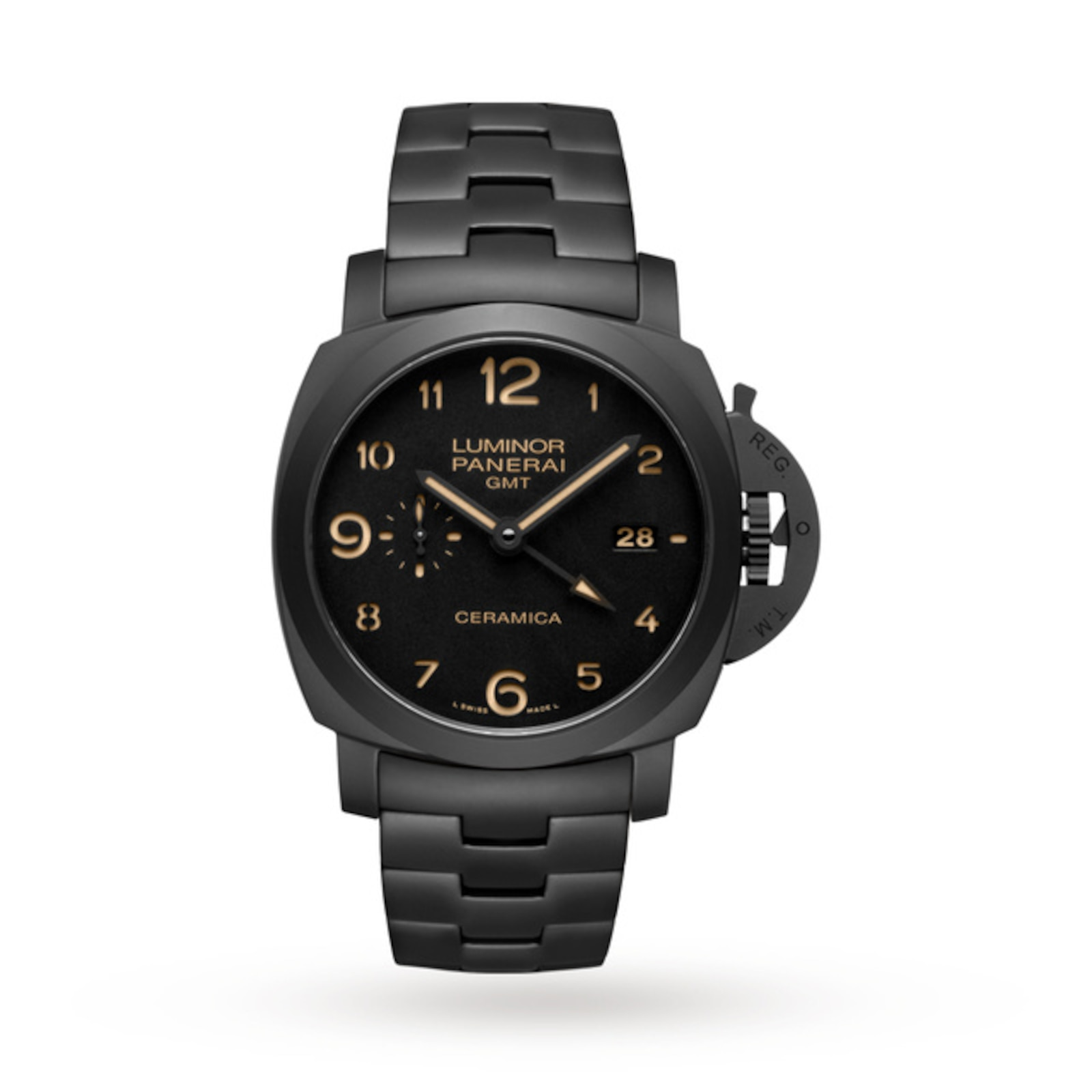 Panerai Luminor Due 3 Days GMT Automatic Ceramica Mens Watches