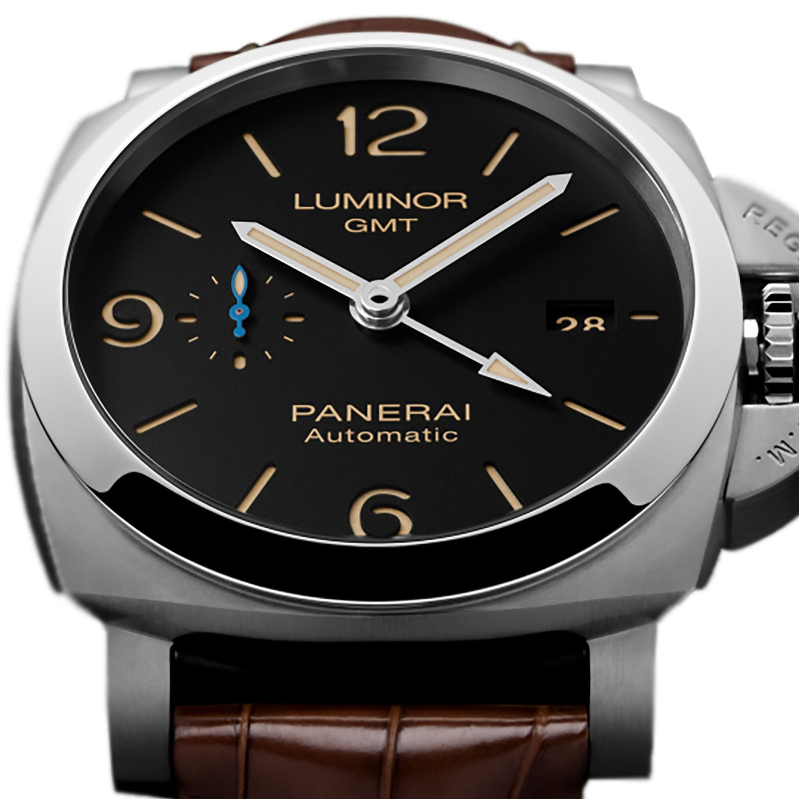 Panerai Luminor Due 3 Days GMT Power Reserve Automatic Acciaio Mens Watches