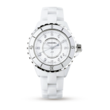 Chanel J12 White Ceramic and Steel  Ladies Watch 33mm