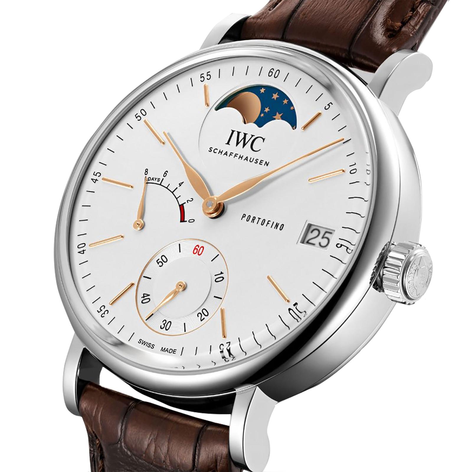 IWC Portofino Hand-Wound Moon Phase Mens Watch