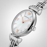 Emporio Armani T-Bar Stainless Steel Bracelet Ladies Watch