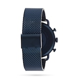 Emporio Armani 43mm Mens Blue Mesh Watch