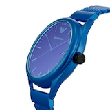 Emporio Armani Mens Blue Mesh Watch