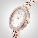 Emporio Armani Ladies Crystal Bracelet Strap Watch, Rose Gold/Mother of Pearl