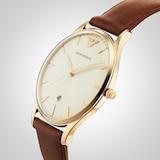 Emporio Armani Men's Date Leather Strap Watch