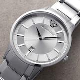 Emporio Armani Mens Silver Watch