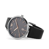 Emporio Armani 43mm Mens Leather Watch