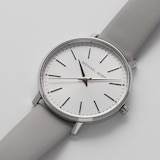 Michael Kors Pyper Grey Leather Ladies Watch