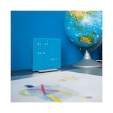 QLOCKTWO Pure Series Blue Candy Acrylic Touch Table Clock 13.5cm