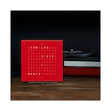 QLOCKTWO Pure Series Cherry Cake Acrylic Touch Table Clock 13.5cm