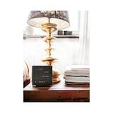 QLOCKTWO TouchDeep Black Table Clock 13.5cm