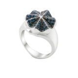 OAK Nature is King Ring Silver with Blue Topaz - Ring Size O