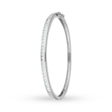 Goldsmiths Argent Silver and Cubic Zirconia Bangle
