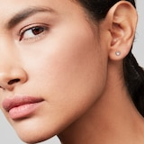 Ted Baker Ted Baker Silver Coloured Cubic Zirconia Neena Nano Heart Stud Earrings