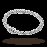 FOPE Flex'It Solo 18ct Gold 0.10ct Diamond Bracelet